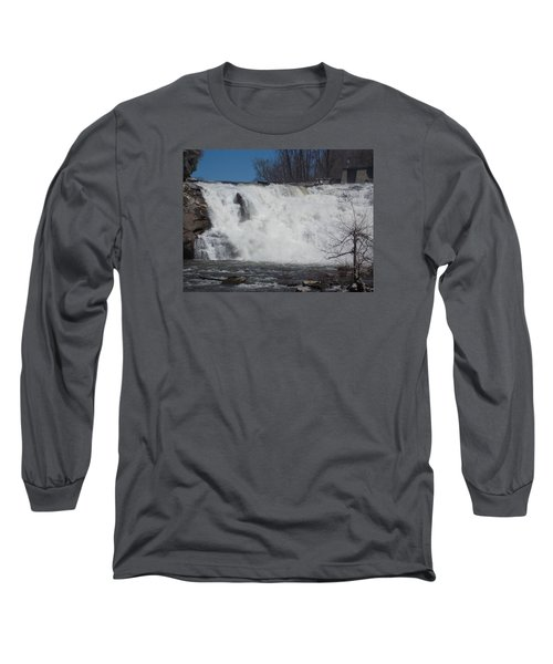 Great Falls In Canaan Long Sleeve T-Shirt by Catherine Gagne
