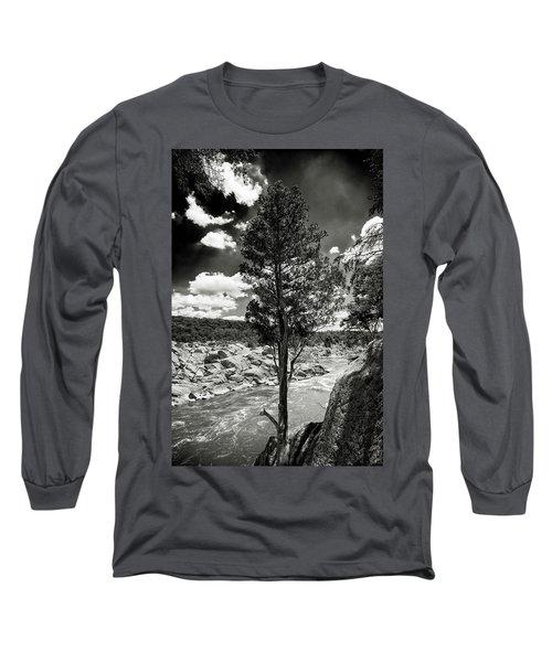 Great Falls Tree Long Sleeve T-Shirt by Paul Seymour