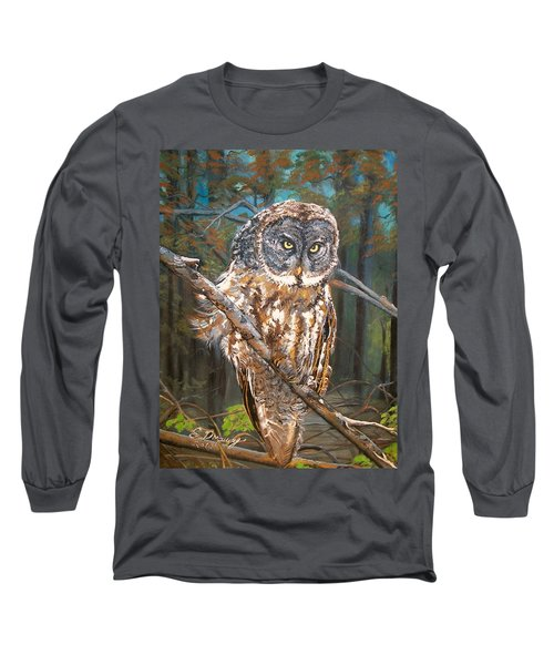 Great Grey Owl 2 Long Sleeve T-Shirt