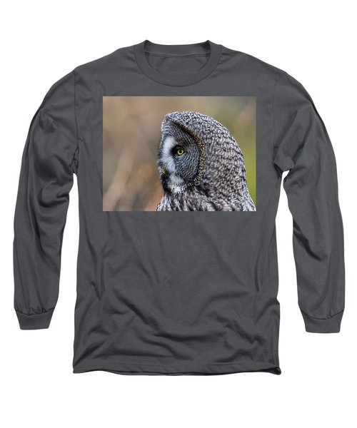Great Grey's Profile A Closeup Long Sleeve T-Shirt by Torbjorn Swenelius