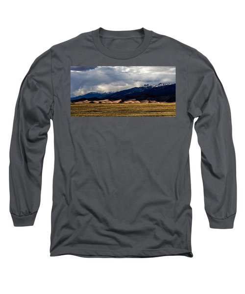 Great Sand Dunes Panorama Long Sleeve T-Shirt