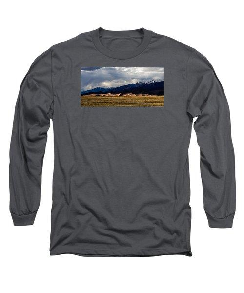 Great Sand Dunes Panorama Long Sleeve T-Shirt