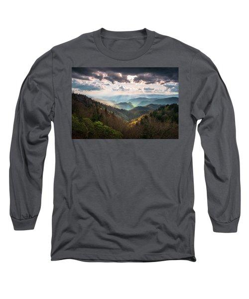 Great Smoky Mountains National Park North Carolina Scenic Landscape Long Sleeve T-Shirt