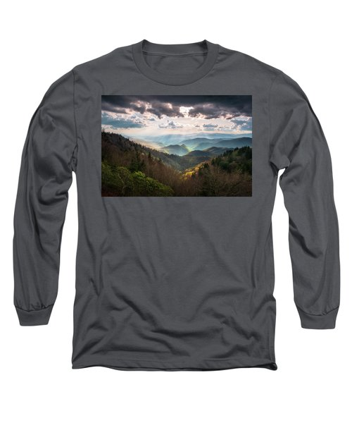 Great Smoky Mountains National Park North Carolina Scenic Landscape Long Sleeve T-Shirt