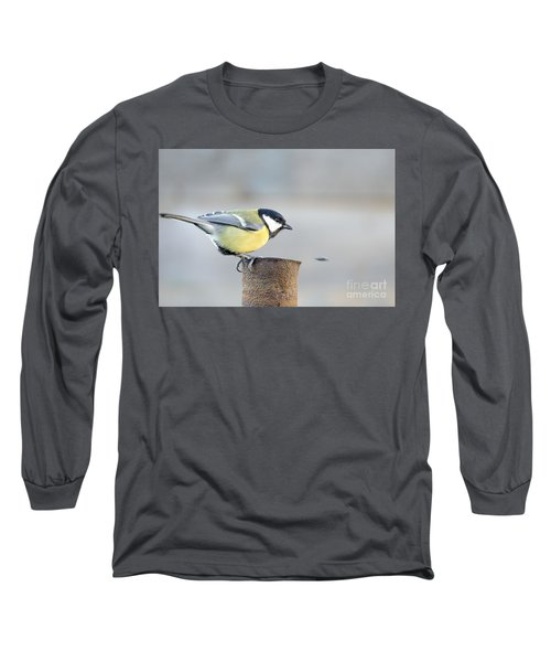 Great Tit On The Tube  Long Sleeve T-Shirt