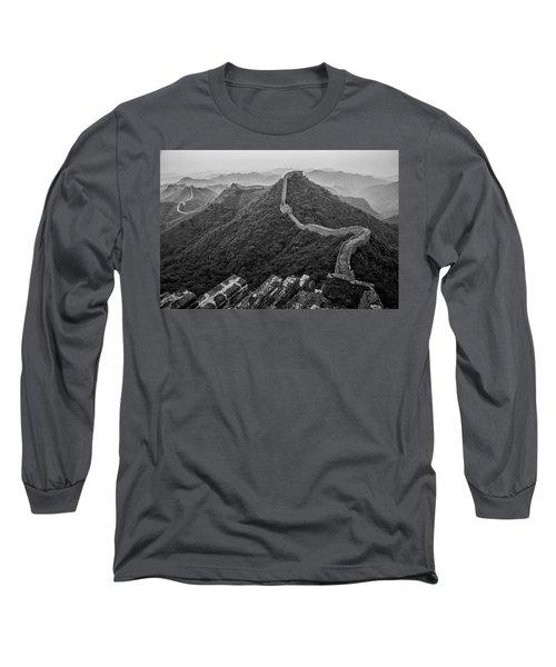 Long Sleeve T-Shirt featuring the photograph Great Wall 2, Jinshanling, 2016 by Hitendra SINKAR