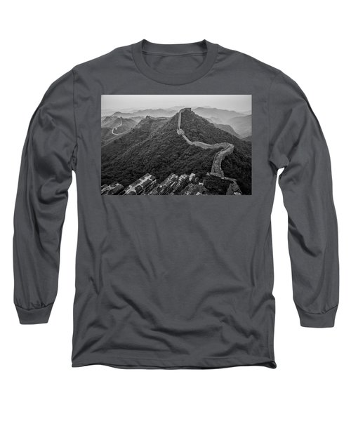 Long Sleeve T-Shirt featuring the photograph Great Wall 2, Jinshanling, 2016 by Hitendra SINKAR