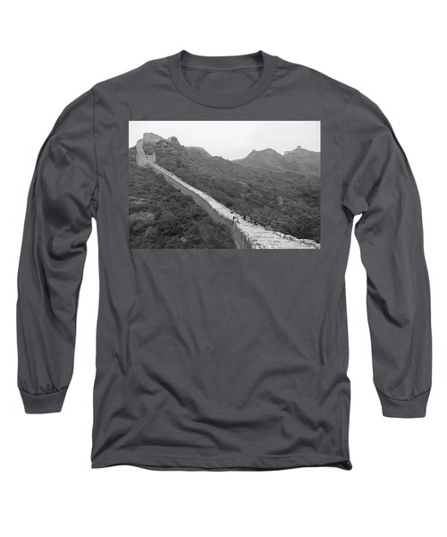 Long Sleeve T-Shirt featuring the photograph Great Wall 4, Jinshanling, 2016 by Hitendra SINKAR