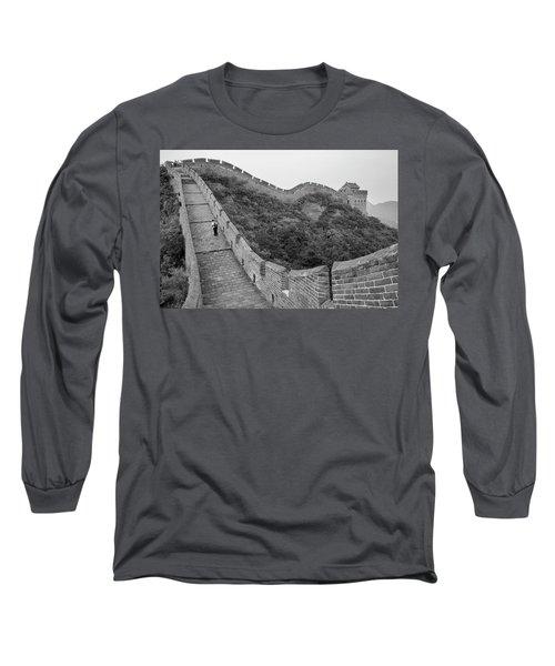 Long Sleeve T-Shirt featuring the photograph Great Wall 9, Jinshanling, 2016 by Hitendra SINKAR