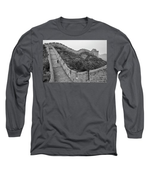 Long Sleeve T-Shirt featuring the photograph Great Wall 9, Jinshanling, 2016 by Hitendra SINKAR