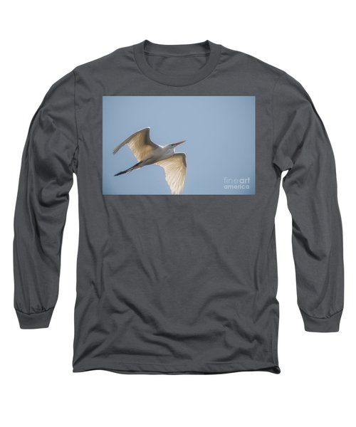 Long Sleeve T-Shirt featuring the photograph Great White Egret - 2 by David Bearden