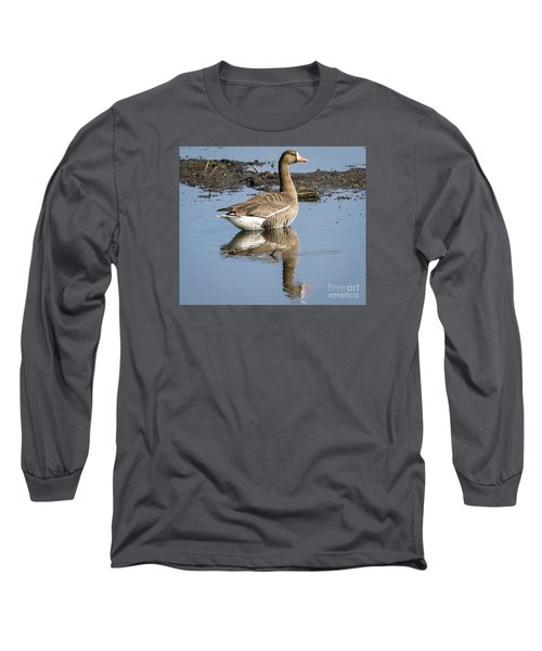 Long Sleeve T-Shirt featuring the photograph Great White Fronted Goose by Ricky L Jones