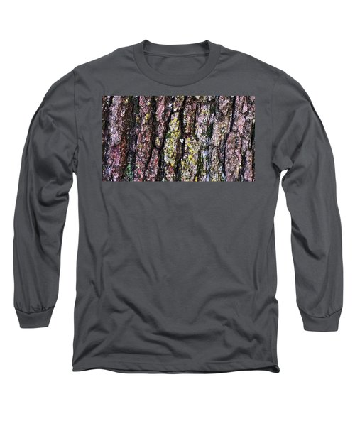 Great White Oak Bark Long Sleeve T-Shirt by John Wartman