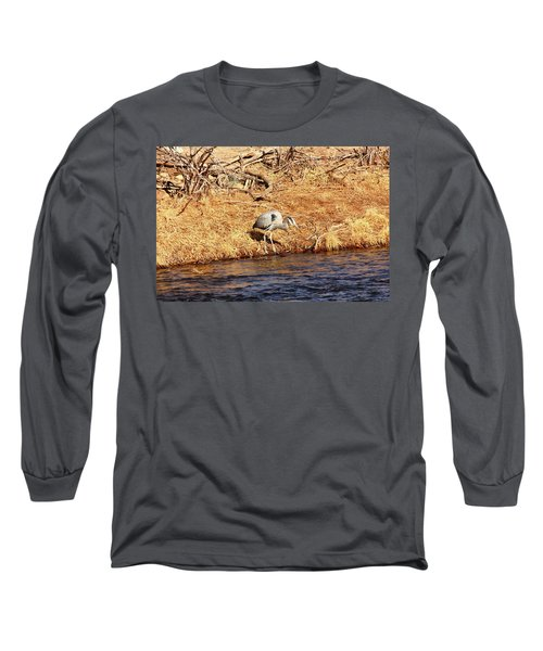 Greatblueheron1 Long Sleeve T-Shirt