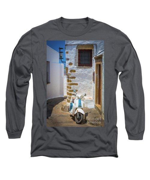 Greek Scooter Long Sleeve T-Shirt