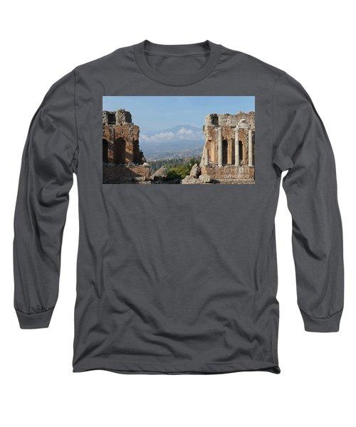 Greek Theatre Taormina Long Sleeve T-Shirt