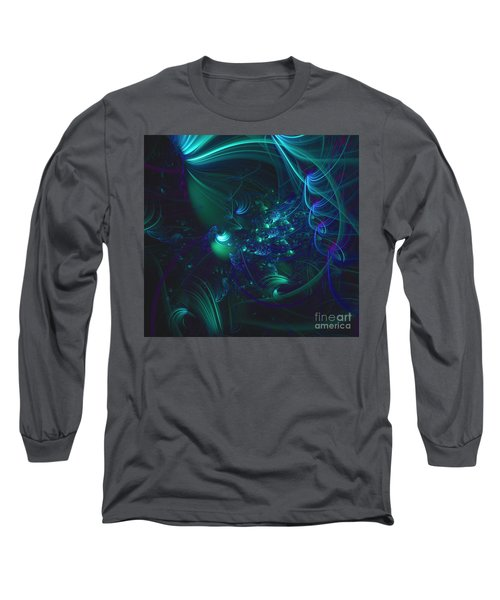 Green And Blue Escape Long Sleeve T-Shirt
