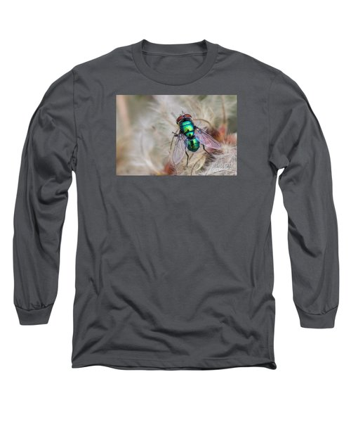 Long Sleeve T-Shirt featuring the photograph Green Bottle Fly by Jivko Nakev