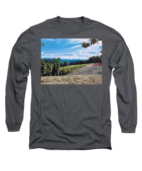Long Sleeve T-Shirt featuring the painting Green Country by Joshua Martin