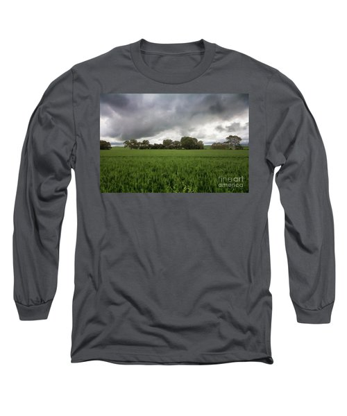 Green Fields 5 Long Sleeve T-Shirt by Douglas Barnard