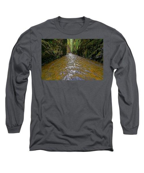 Green Flow Long Sleeve T-Shirt by Jonathan Davison