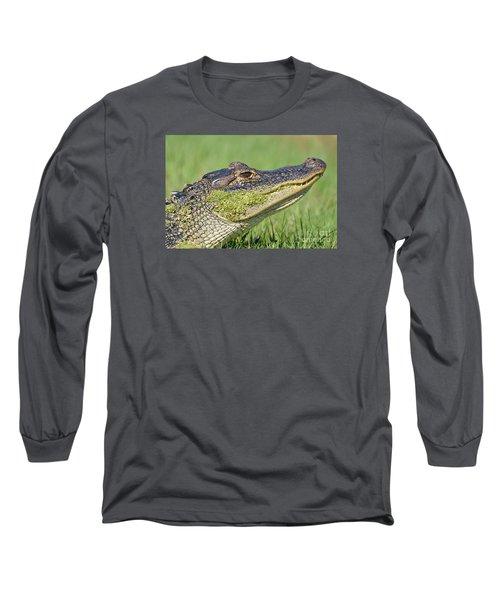 Green Grin  Long Sleeve T-Shirt