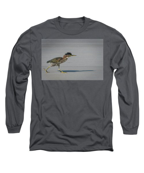 Green Heron On A Mission Long Sleeve T-Shirt