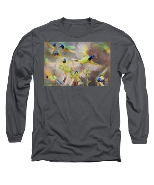 Green Jay Collage Long Sleeve T-Shirt
