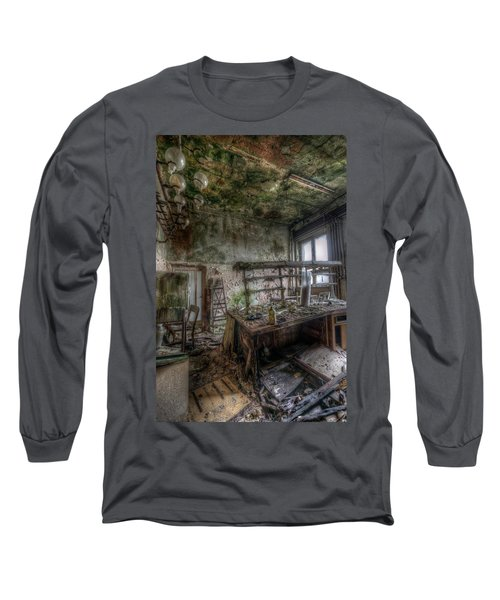 Green Lab Long Sleeve T-Shirt by Nathan Wright
