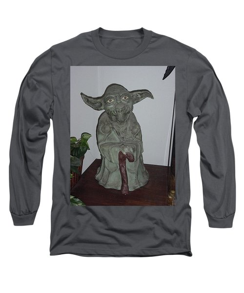 Green Man Long Sleeve T-Shirt by Val Oconnor