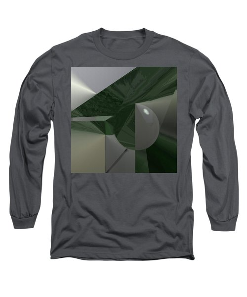 Green N Gray Long Sleeve T-Shirt