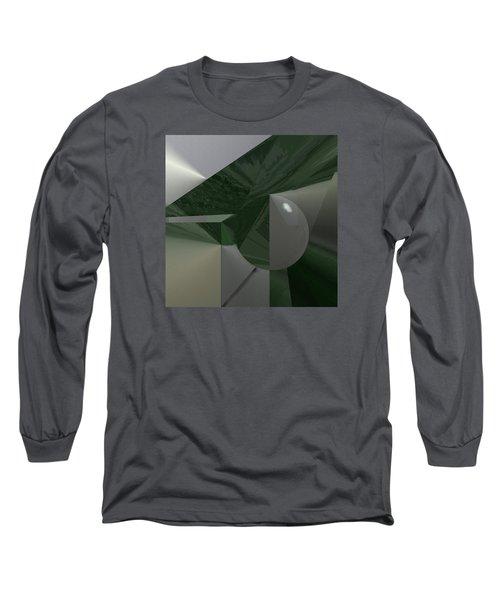 Green N Gray Long Sleeve T-Shirt