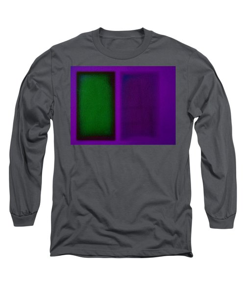 Green On Magenta Long Sleeve T-Shirt by Charles Stuart