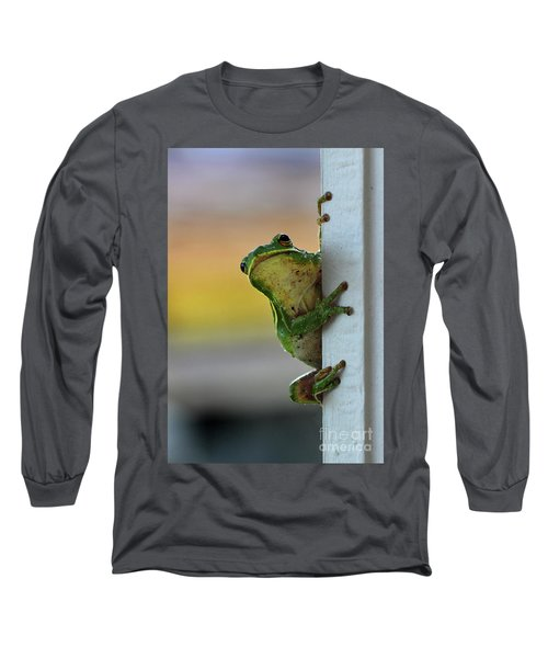 Green Tree Frog  It's Not Easy Being Green Long Sleeve T-Shirt