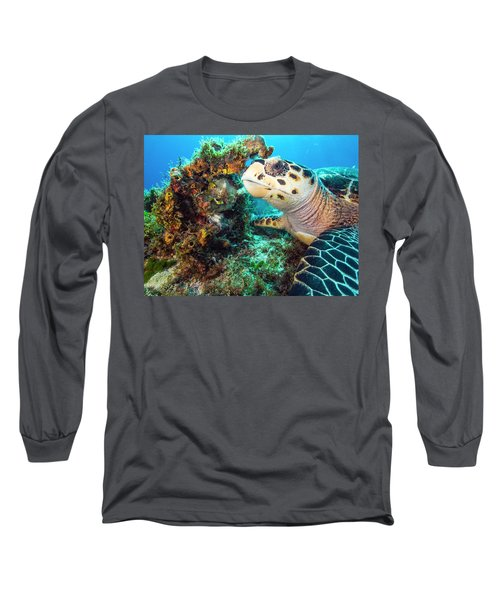 Green Turtle Profile Long Sleeve T-Shirt