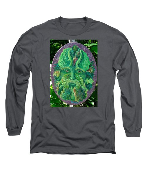 Greenman 3 Long Sleeve T-Shirt by Megan Walsh