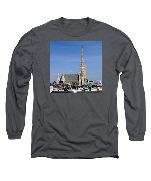 Greetings From Vienna Long Sleeve T-Shirt by Evelyn Tambour