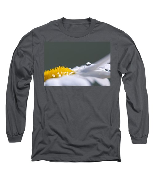 Grey And Yellow Daisy Long Sleeve T-Shirt