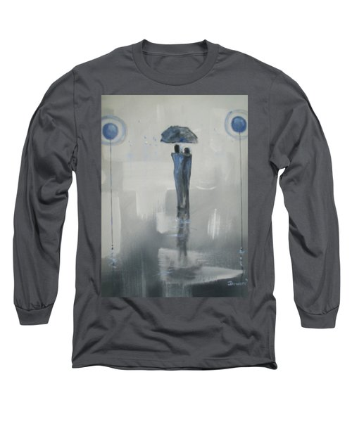 Long Sleeve T-Shirt featuring the painting Grey Day Romance by Raymond Doward