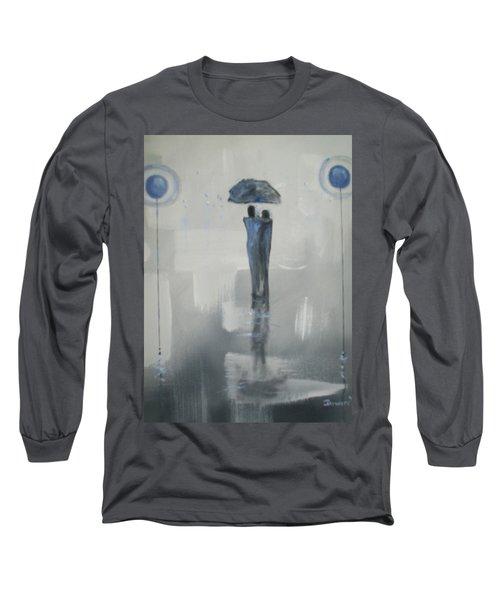 Grey Day Romance Long Sleeve T-Shirt