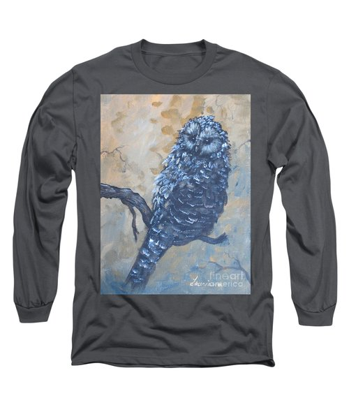 Grey Owl1 Long Sleeve T-Shirt