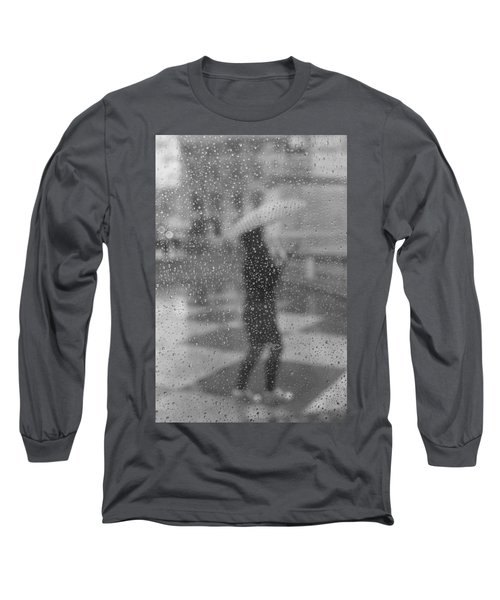 Grey Rain Long Sleeve T-Shirt