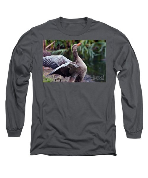 Greylag Goose Poetry Long Sleeve T-Shirt