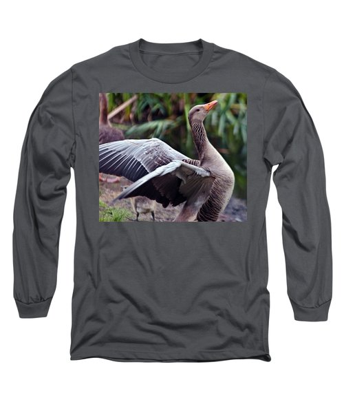 Greylag Goose Poetry Long Sleeve T-Shirt