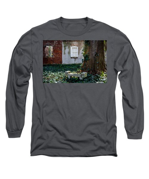 Grieving Bench At St. Philip's Cemetery Long Sleeve T-Shirt