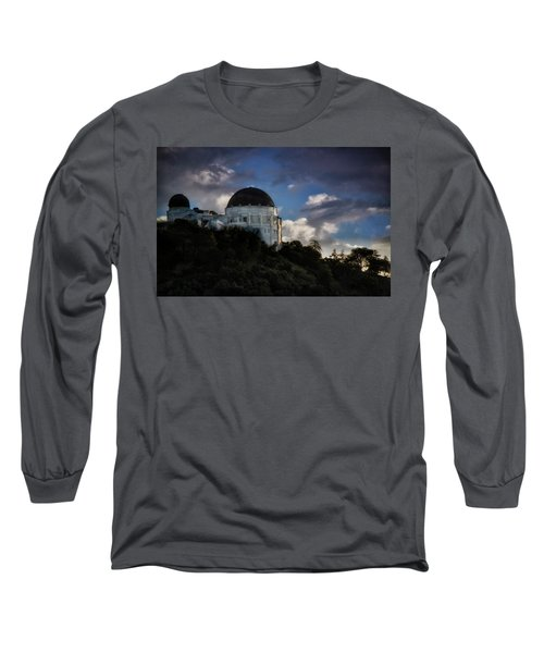 Long Sleeve T-Shirt featuring the photograph Griffith Observatory by Joseph Hollingsworth