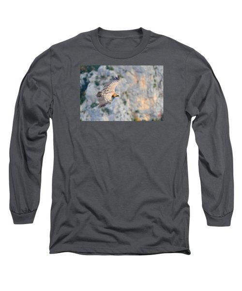 Griffon Vulture Long Sleeve T-Shirt by Richard Patmore