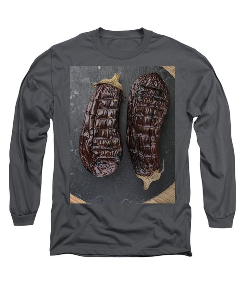 Grilled Aubergine Long Sleeve T-Shirt