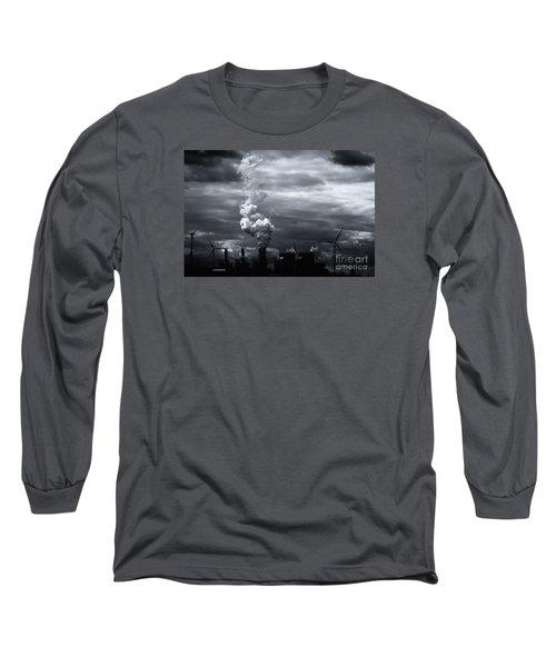 Grim Black White Energy Landscape Long Sleeve T-Shirt