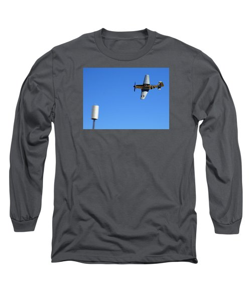 Grim Reaper.  P51d.  Not Just Your Father's Show Plane Long Sleeve T-Shirt